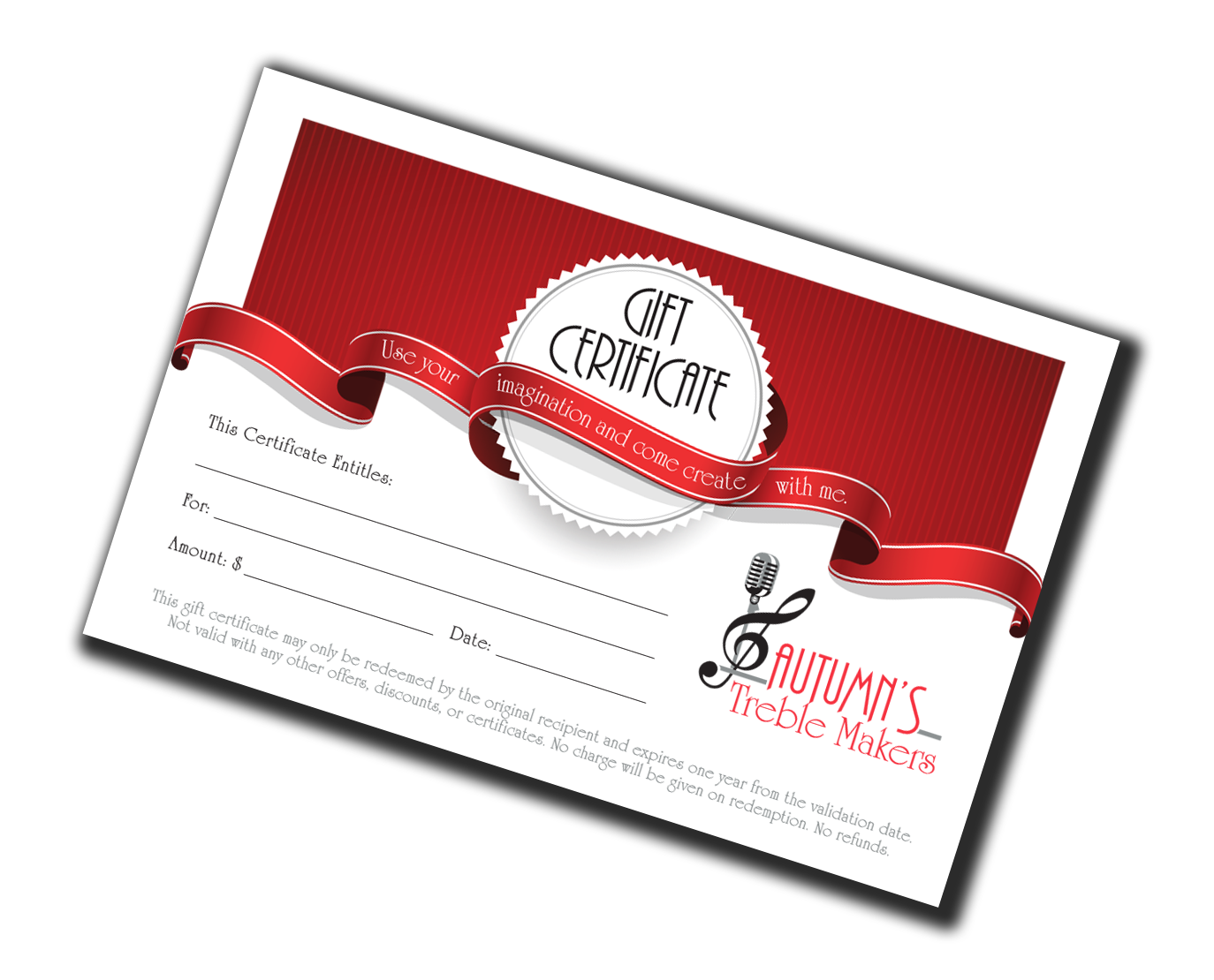 Image of a gift certificate.